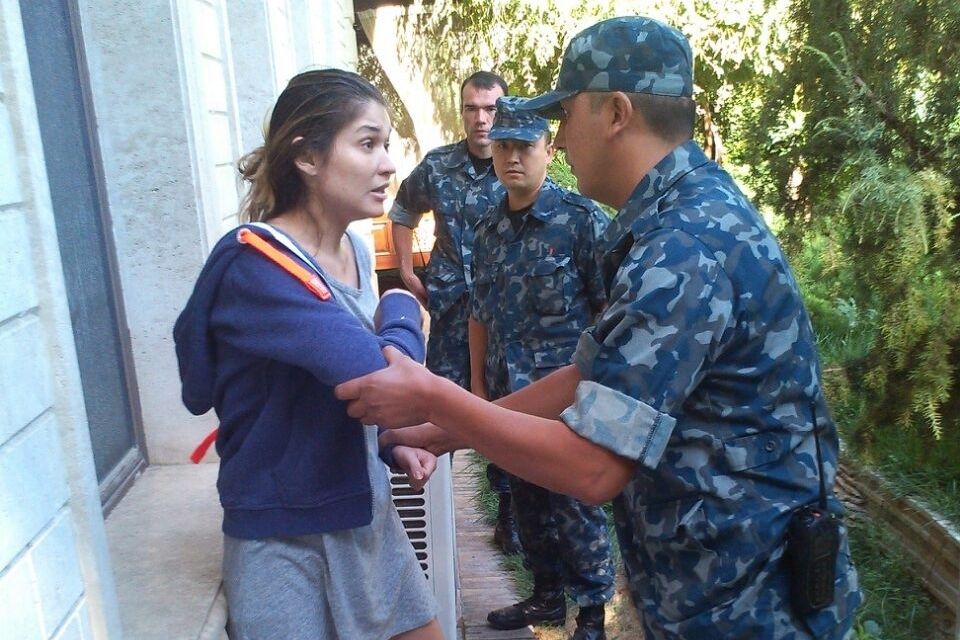 Photographs released by Karimova's spokesman in 2014 show what appeared to be a tense standoff with the authorities around the time she disappeared from public view.