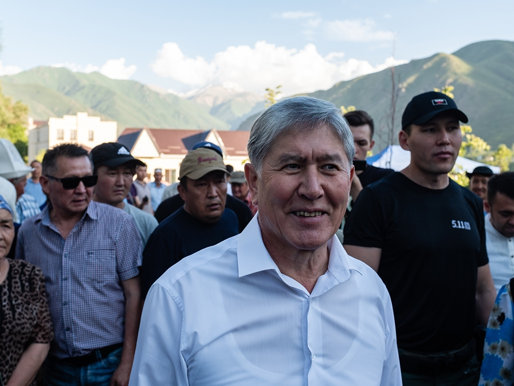 Last stand: Almazbek Atambayev with his supporters in Koi-Tash. (All photos by Danil Usmanov)