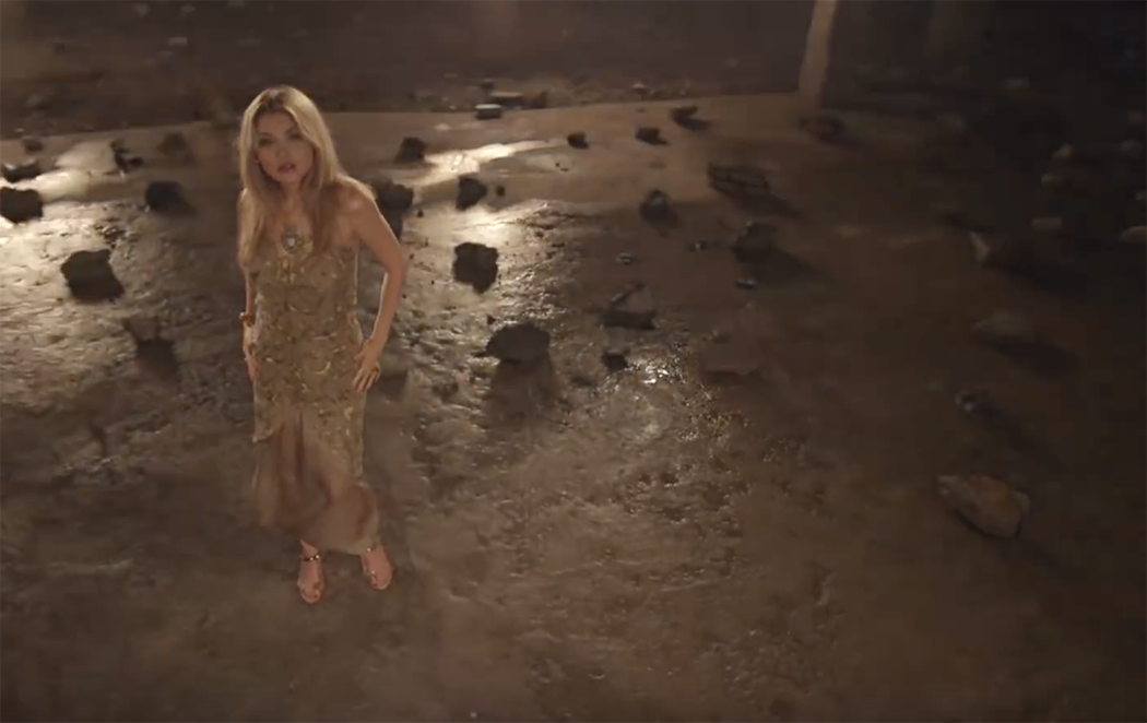 "What a performance: Karimova in a scene of the video, released in 2012, for her song ""How Dare."""