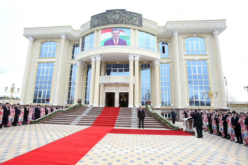 Donors appear to be tiring of Tajikistan's spending priorities. (Tajik president's office)