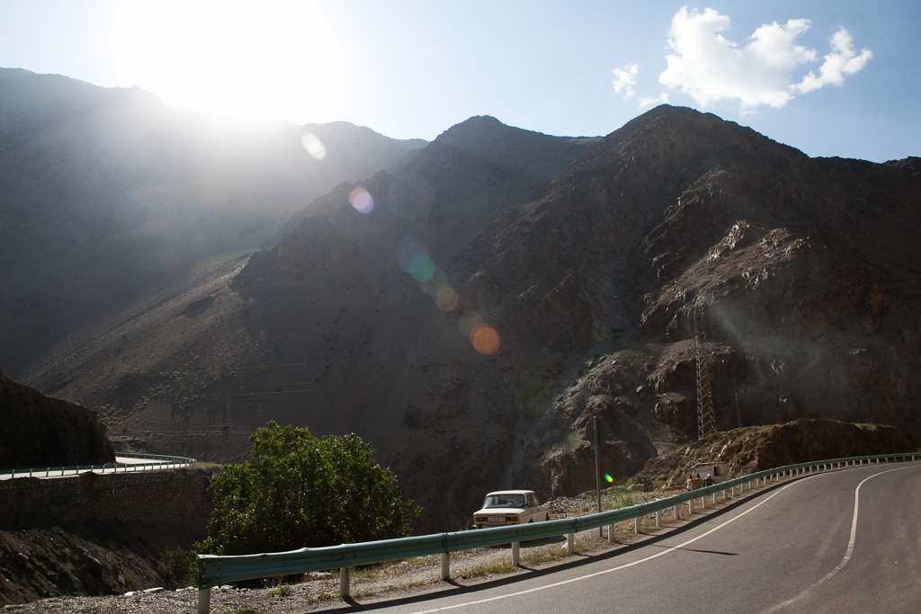 Road between Sughd and Dushanbe