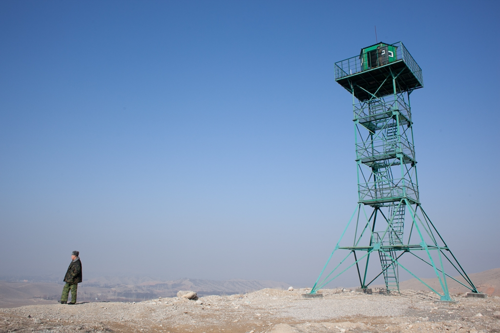 The Kyrgyz are building new watchtowers as part of their efforts to secure the border.