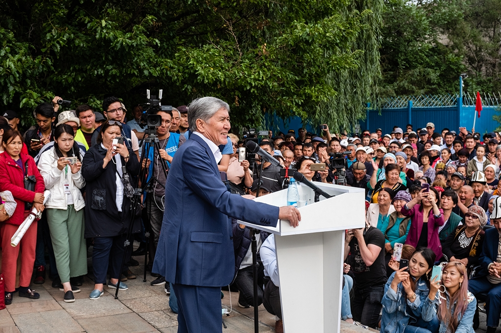 Atambayev addresses the crowd. (All photos by Danil Usmanov)