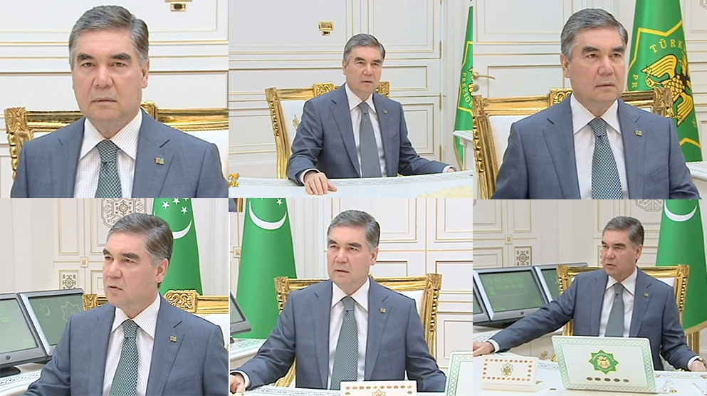 Careful scrutiny of the president's image is going to become a firm staple of Turkmen-watching for the foreseeable future. (Eurasianet montage)