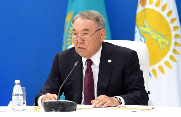 No mother-lover: Nazarbayev speaking at the Nur Otan council.
