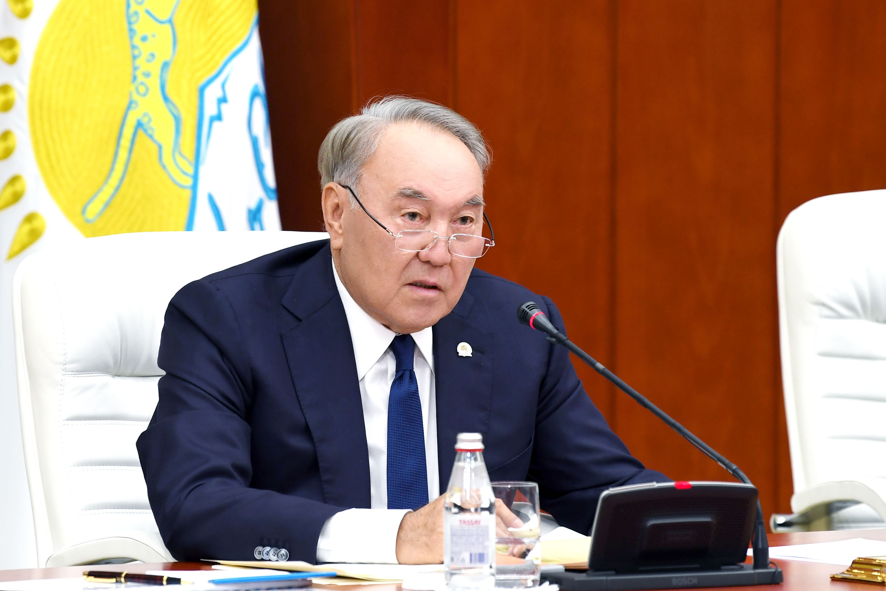 A country for old men: Nazarbayev speaking at a conference earlier this month. (Photo: First President website)