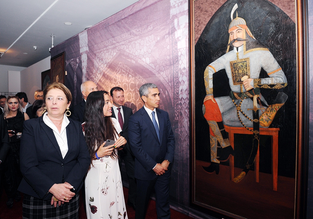 Leyla Aliyeva, the president's daughter, attending the opening. (heydar-aliyev-foundation.org)