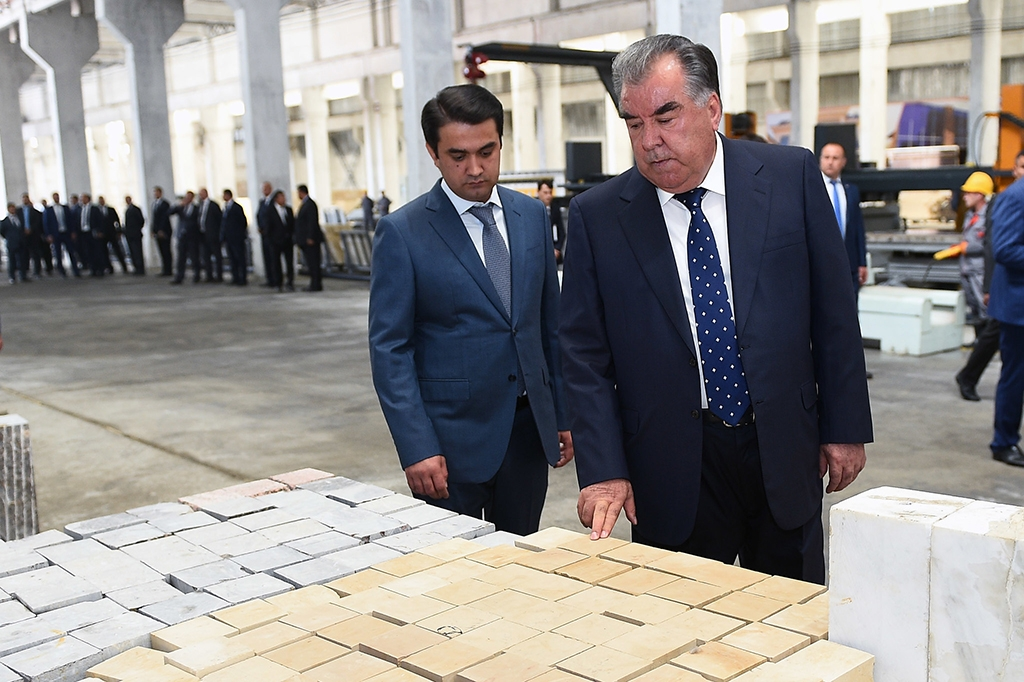 Tajikistan's president and son