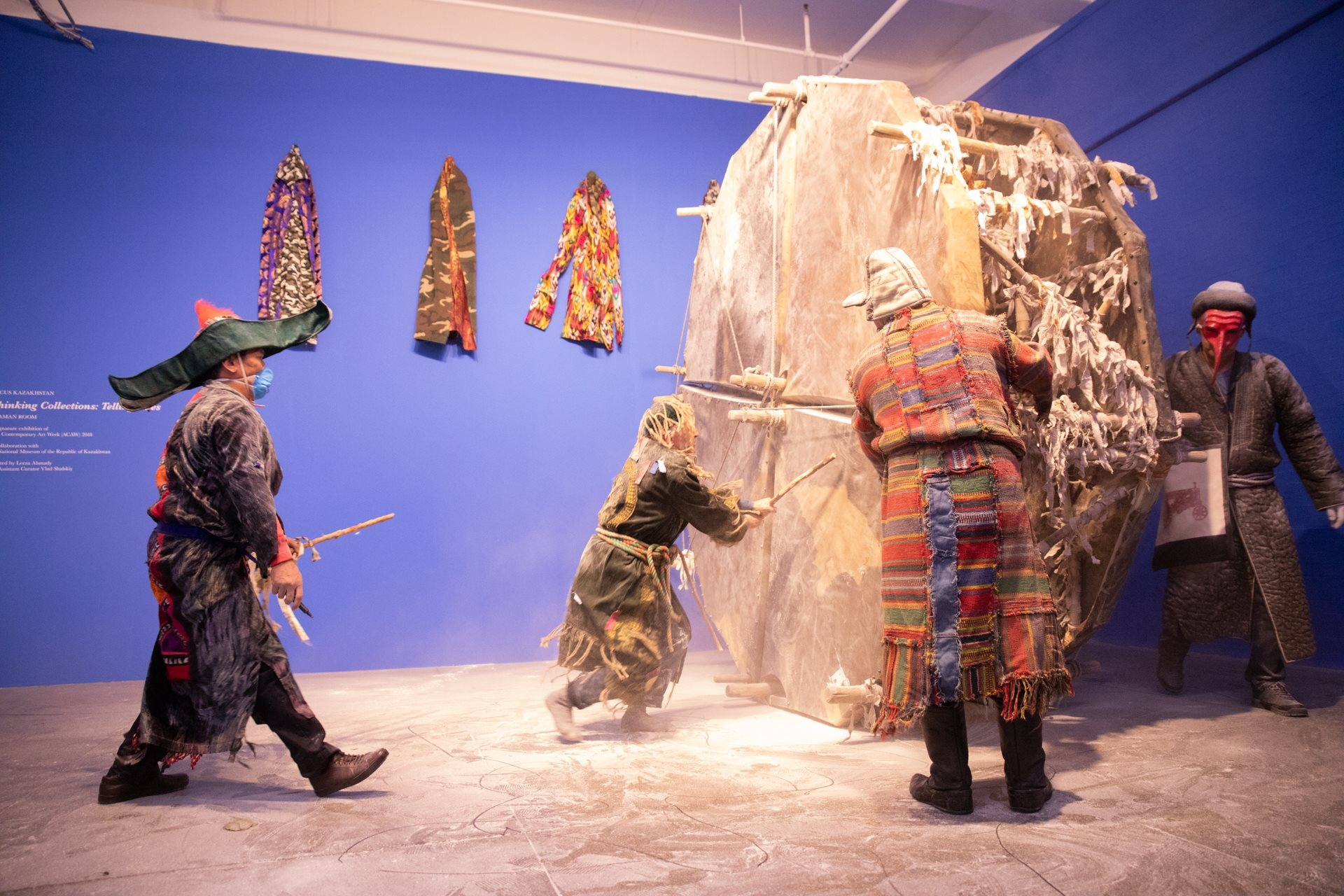 A Kazakh installation at Mana Contemporary in Jersey City last year. (courtesy Focus Kazakhstan)