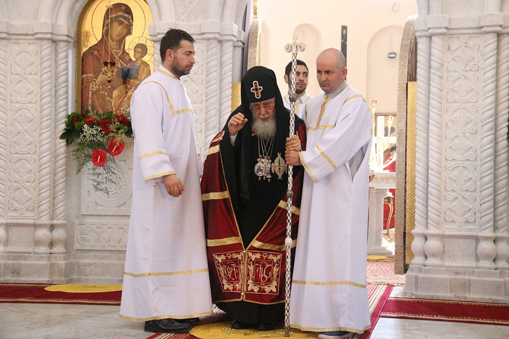 Patriarch Ilia II is not a name to take in vain in the fervently devout Christian nation, where the church has a say in everything from local issues to foreign affairs (Georgian Patriarchate's Facebook page)