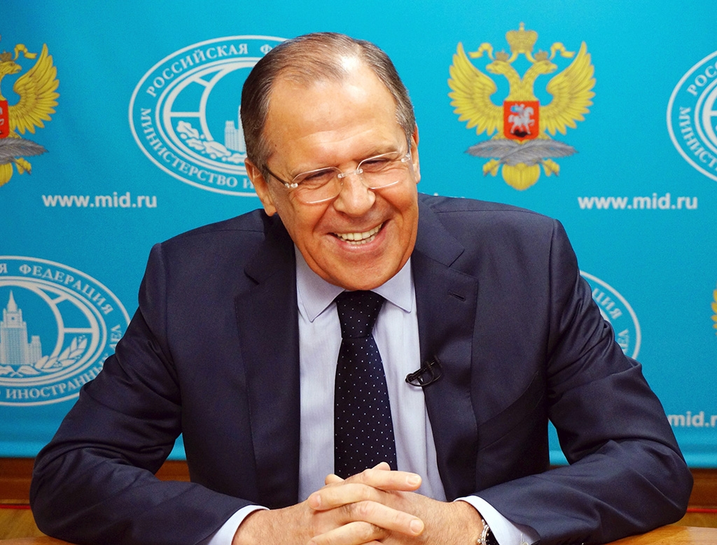 Russian Foreign Minister Sergey Lavrov may not be in such a good mood if he visits Tbilisi, where he would likely be greeted by massive protests. (photo: mid.ru)