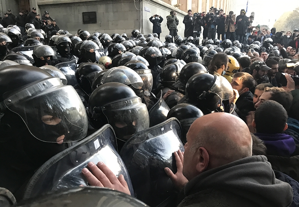 Georgia parliament protests