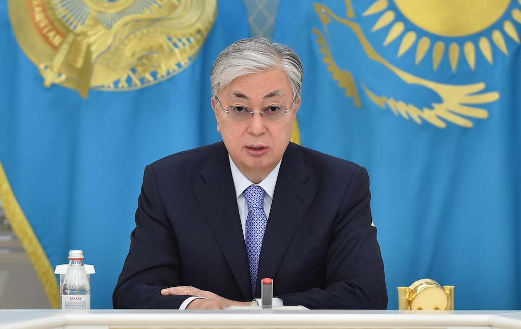 Me no worry: Tokayev addressing government officials on March 9. (Photo: Presidential administration)
