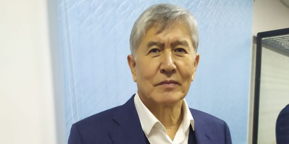 Under low pressure: Atambayev pictured in court. (Photo: Aprel news agency)