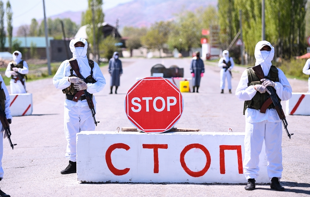 A checkpoint in southern Kyrgyzstan (gov.kg)