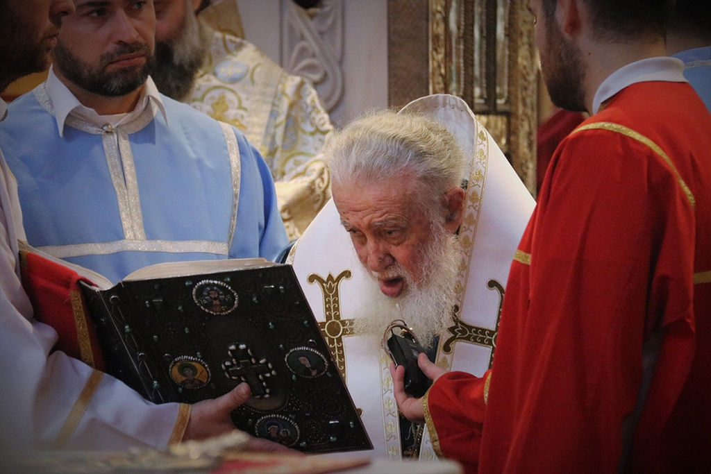 Patriarch Ilia II said during his Easter sermon that a shared communion spoon cannot spread diseases (photo: Georgian Patriarchate)