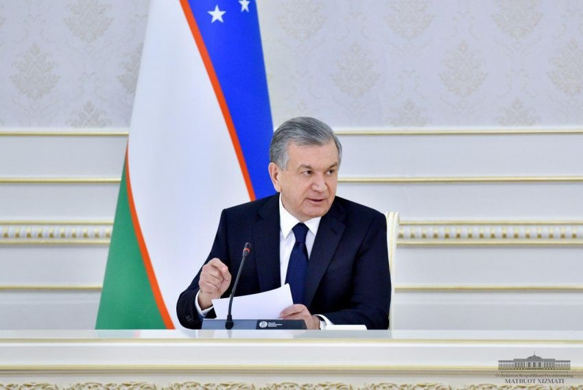 It's not about the money money money: Shavkat Mirziyoyev seen at a recent government meeting. (Photo: Presidential website)