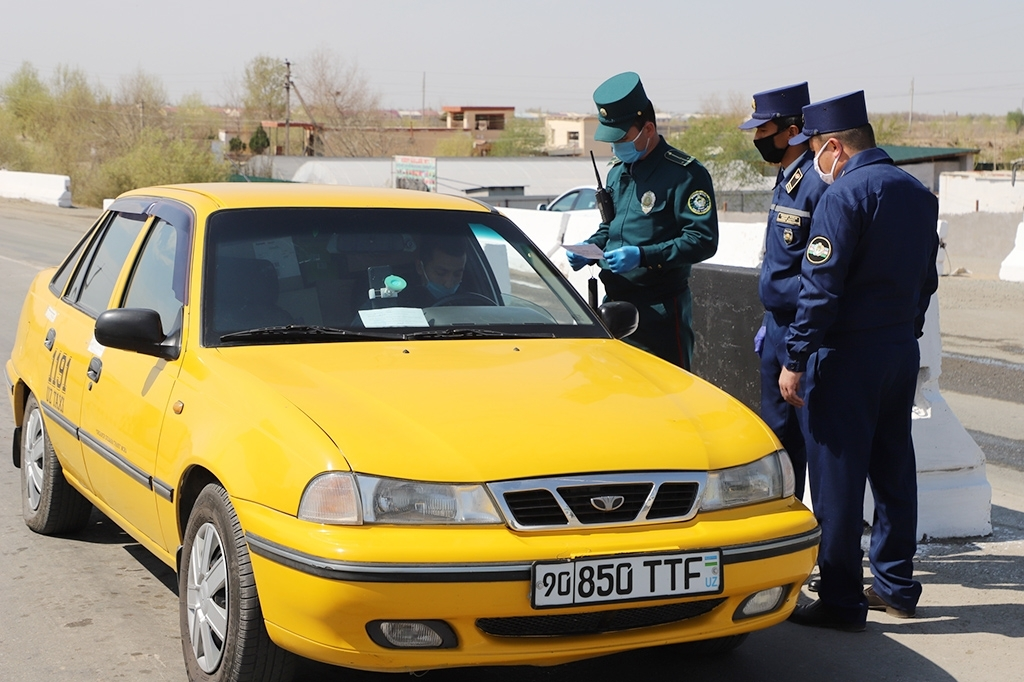 A checkpoint in Uzbekistan (Khorezm regional government)