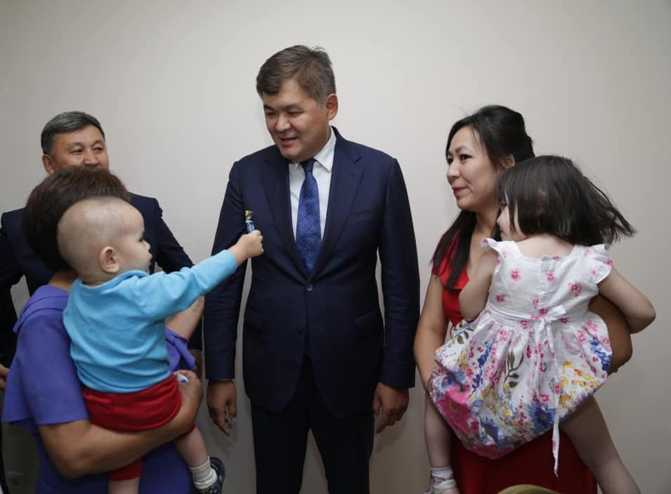Not like taking candy from a baby: Health Minister Elzhan Birtanov in a ministry file photo.