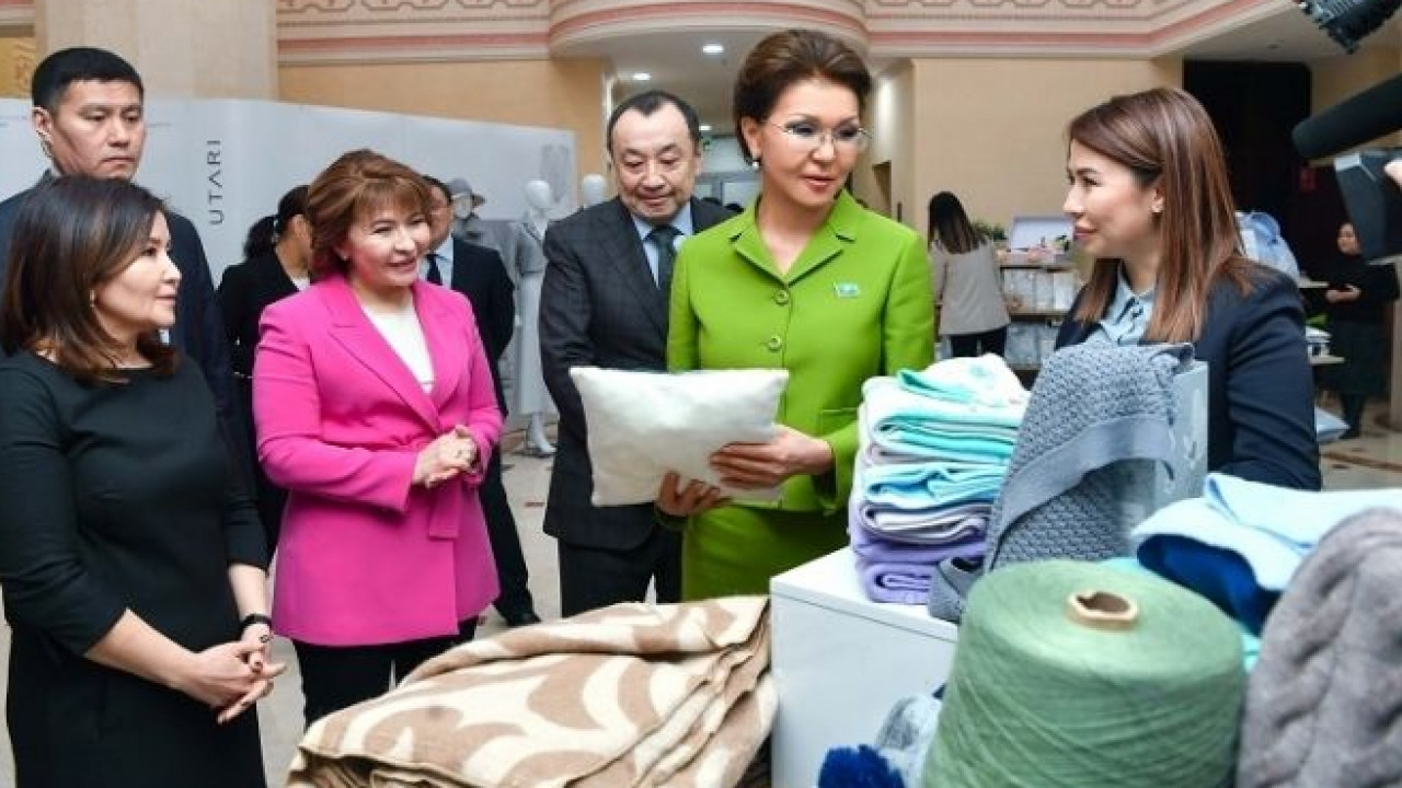 Soft landing?: It is unclear what job Nazarbayeva, seen here holding a cushion, will get next, if any. (Photo: Government website)