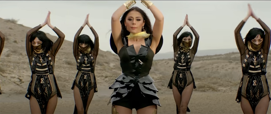 Screenshot from the video for Azerbaijan's entry for Eurovision 2020, Cleopatra.