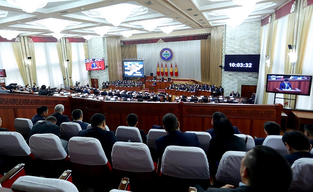 Lawmakers seem inclined to support the internet control law. (Photo: Kyrgyz parliament)
