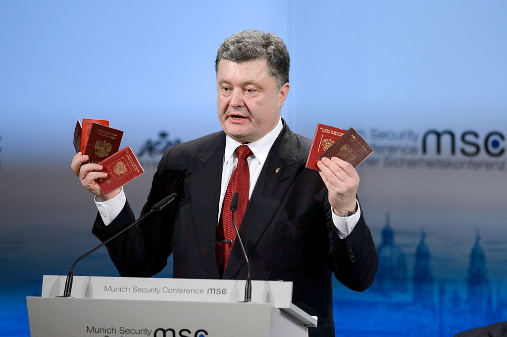 Petro Poroshenko at the Munich Security Conference in 2015 (securityconference.de via Wikimedia)