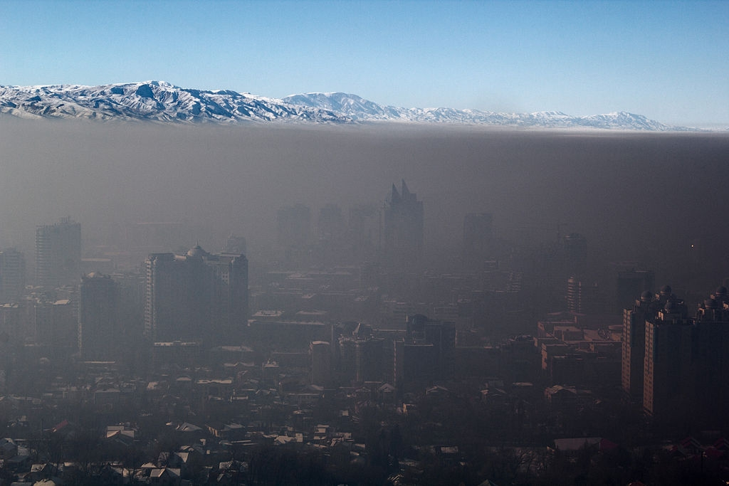 Pollution in Almaty in 2014 (Wikimedia)