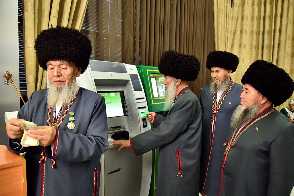 Getting an ATM to spit out money is something of a benediction in Turkmenistan (state media)