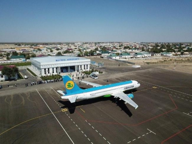 Moynaq airport. (Photo: UzA news agency)