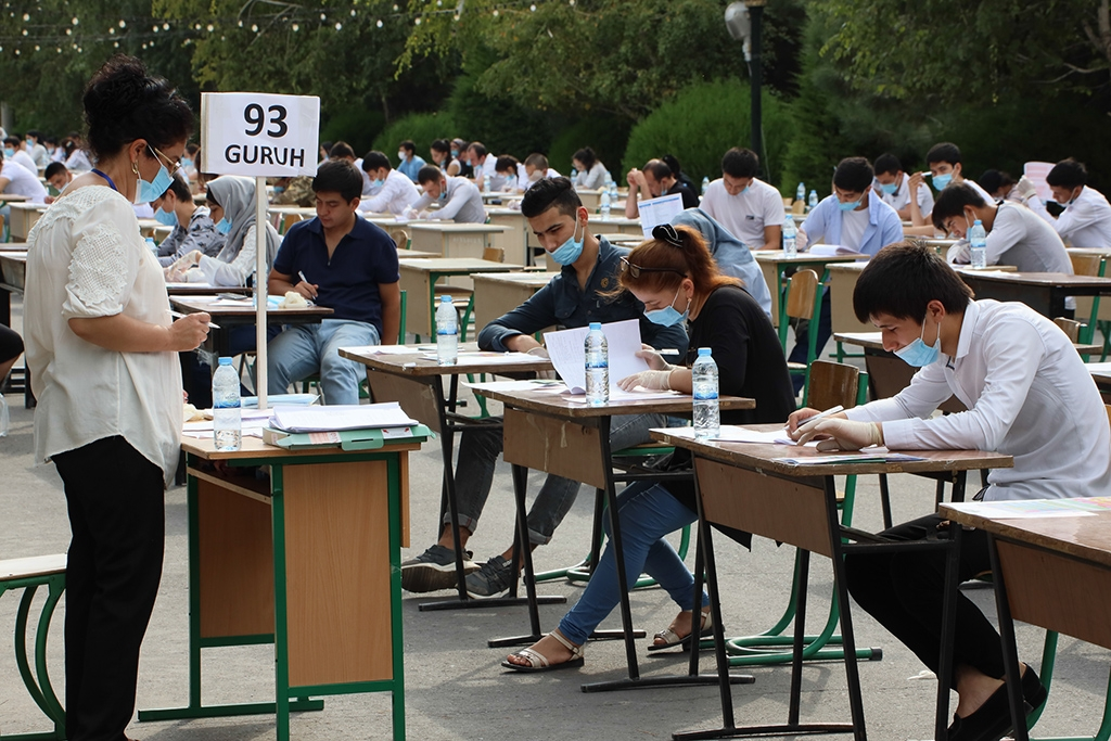 Exams in time of COVID-19 (Photo: Eurasianet)