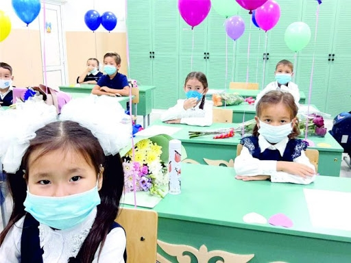 Only a limited number of children will be returning to the classroom. (Photo: Nur-Sultan city government)