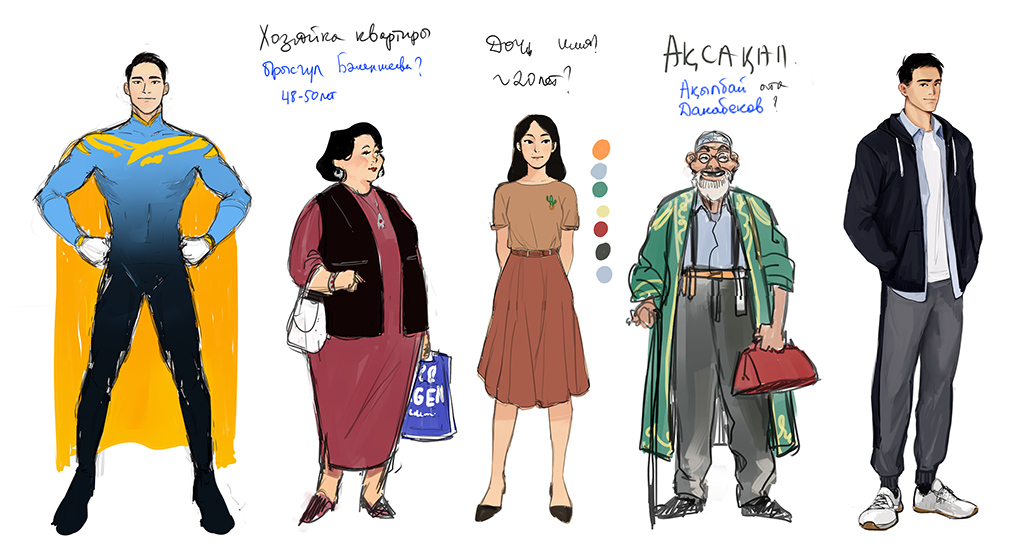 Characters from KazakhMan (courtesy image)