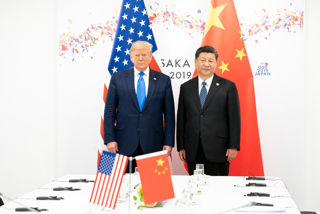 Donald Trump and Xi Jinping in Osaka in 2019 (White House photo)