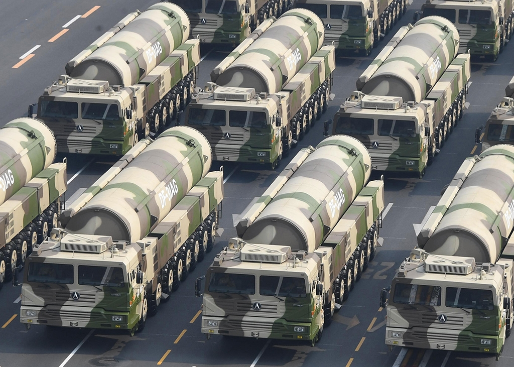 DF-31AG missiles at a parade in Beijing last year (chinamil.com.cn)