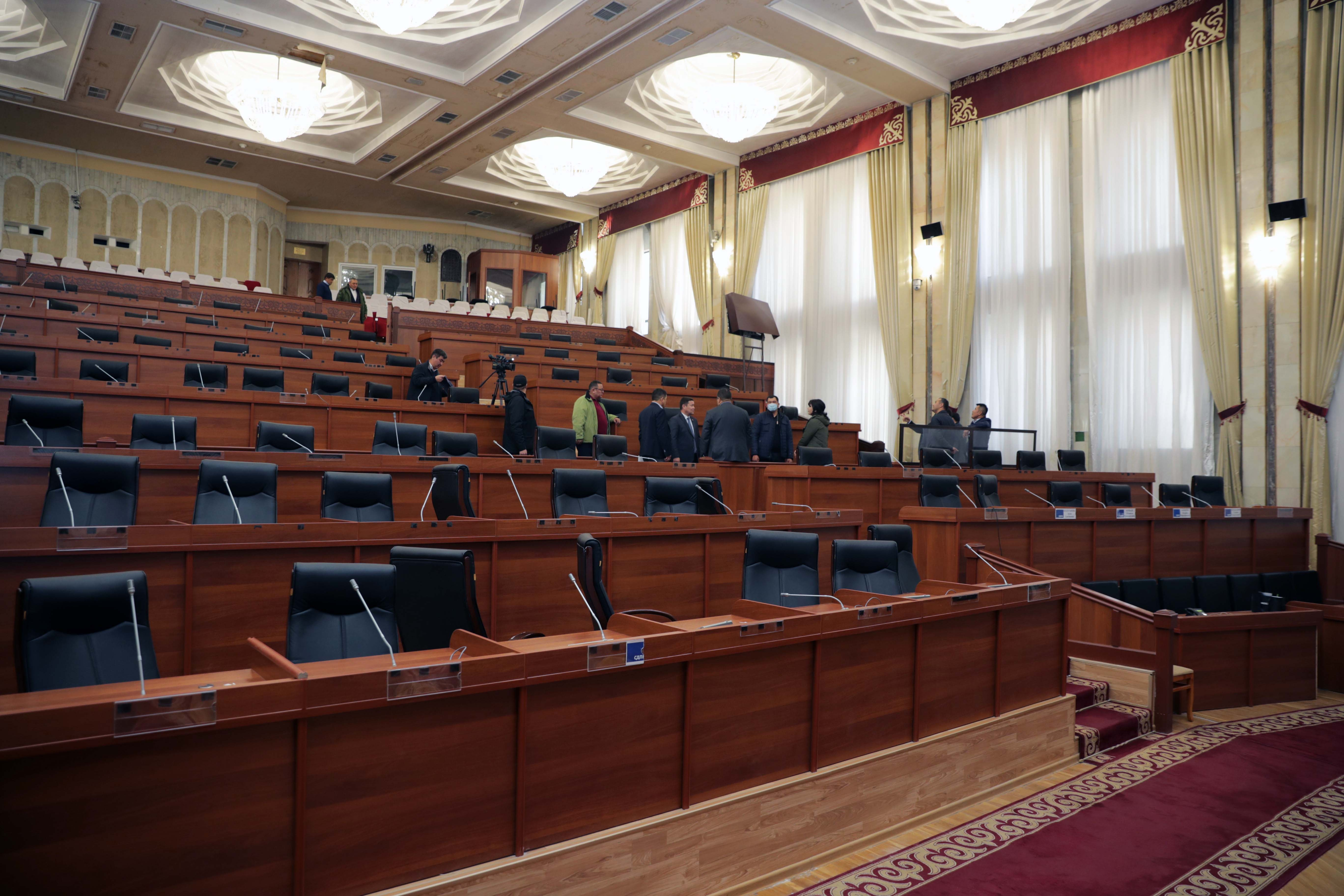 Empty chamber: Kyrgyzstan's parliament has proven a highly malleable chamber. (Photo: Parliament website)