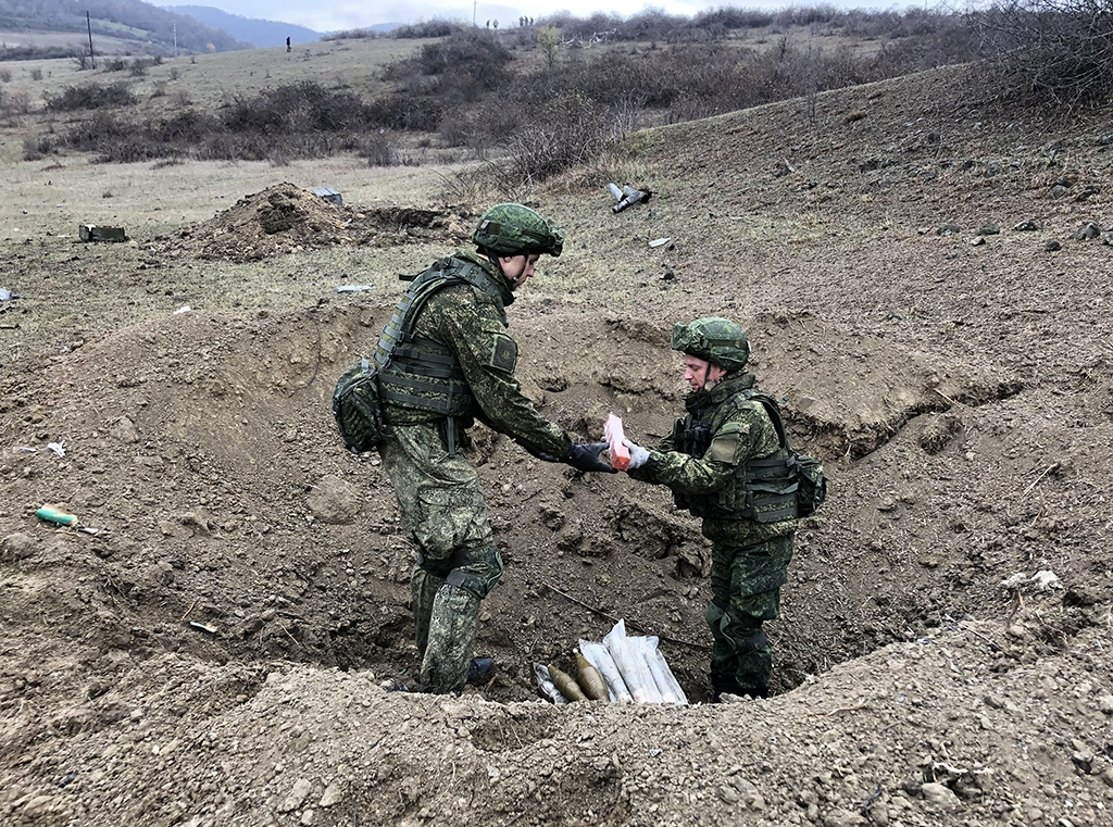 Russian peacekeepers in Karabakh