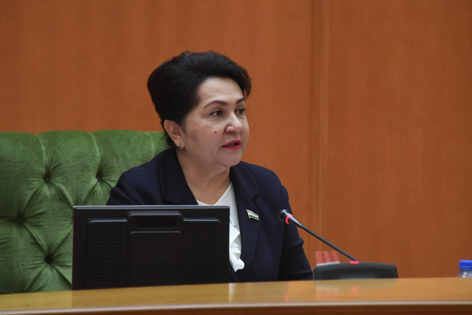 Senate speaker Tanzil Narbayeva concedes more needs to be done to monitor expectant mothers. (Photo: Xalq So'zi newspaper)