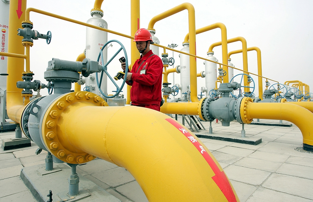 Domestic Chinese gas production threatens Central Asian exporters. (ADB)