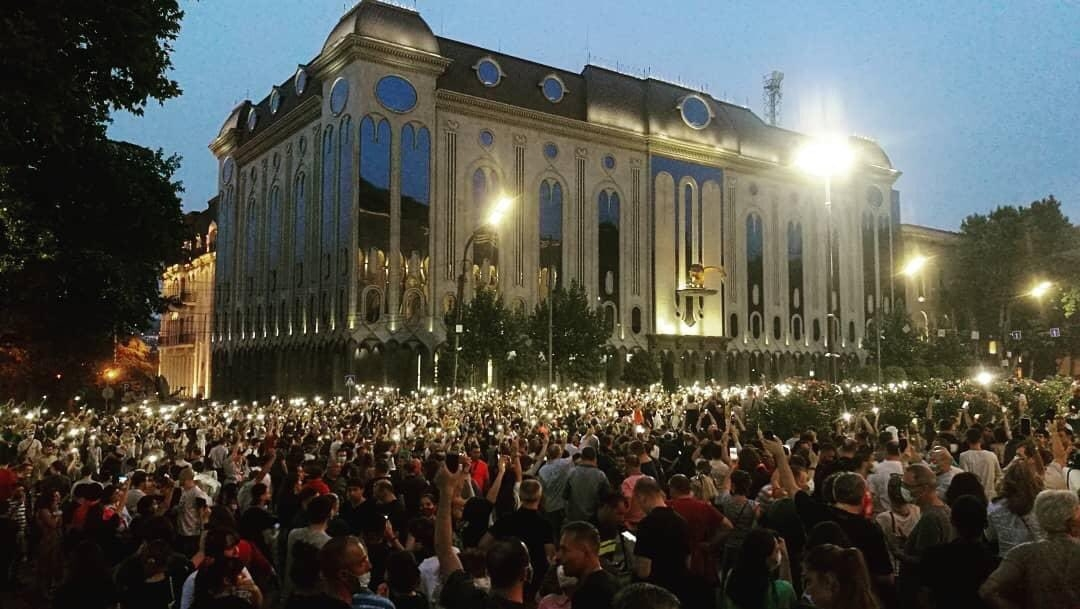 The anti-government demonstration in Tbilisi on July 11 (photo by Shorena Tevzadze, used with permission)