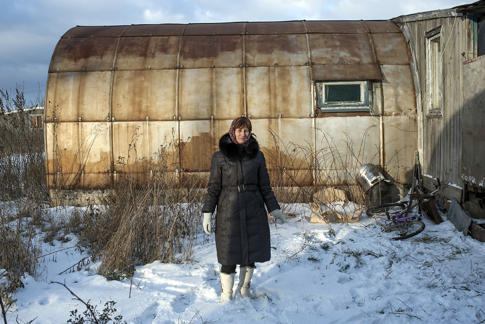 Lyubov Lyzhikhina, from Tajikistan, has lived in the Borisoglebsk settlement since 1998.