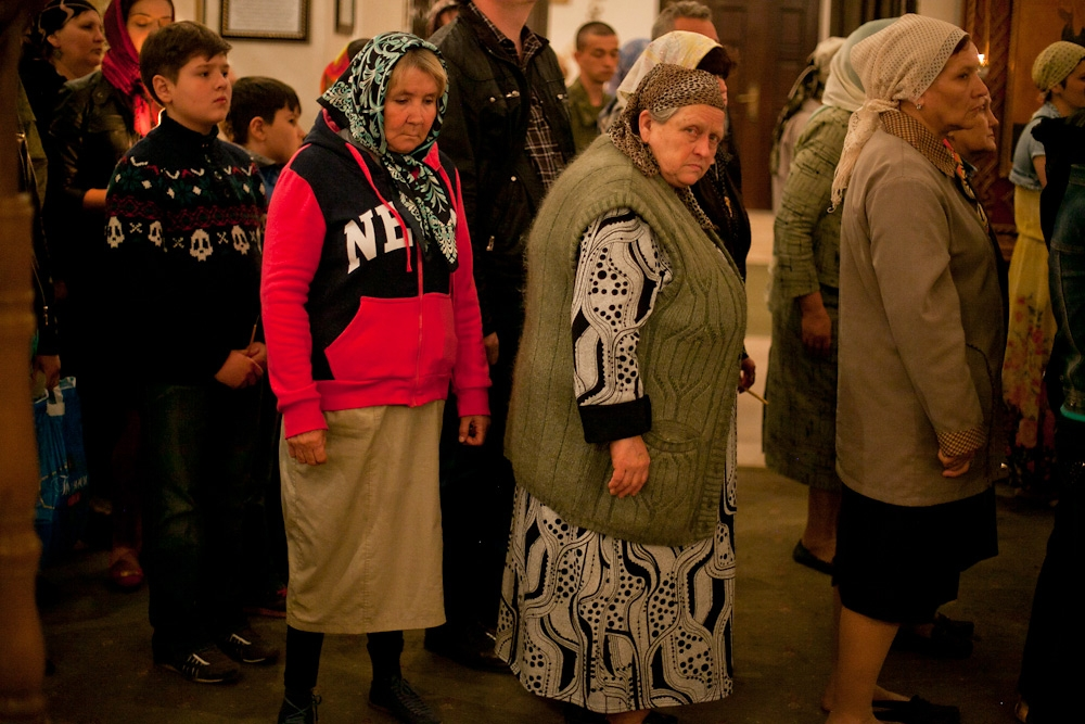 Though much of the congregation is elderly women, Bishop Pitirim says he sees an increasing numbers of younger parishioners.
