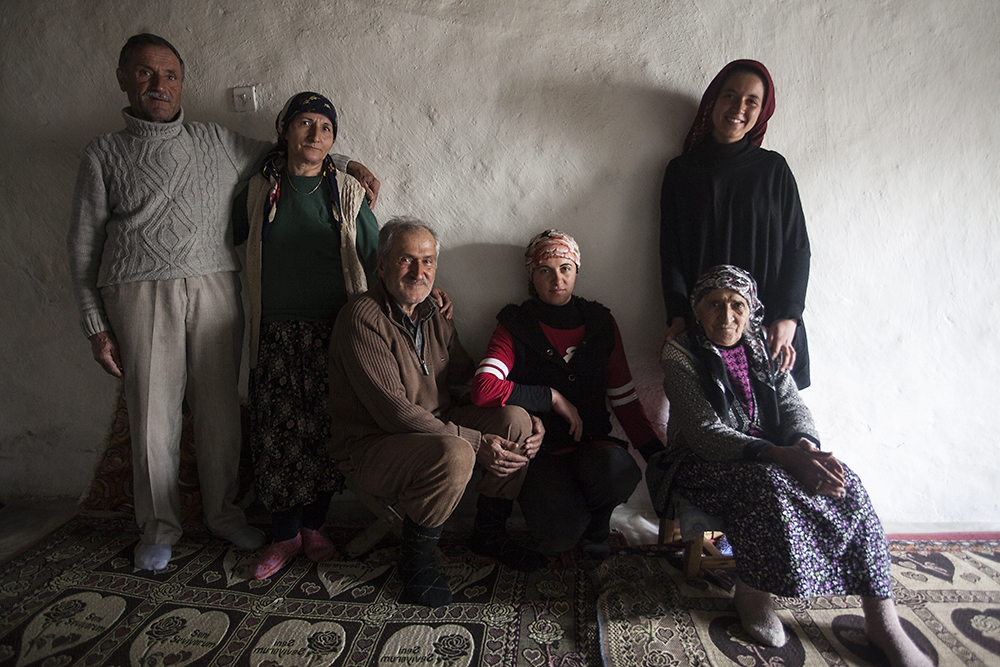 The Akkush family is one of the few remaining in the village of Pirshenq that still speak Armenian.
