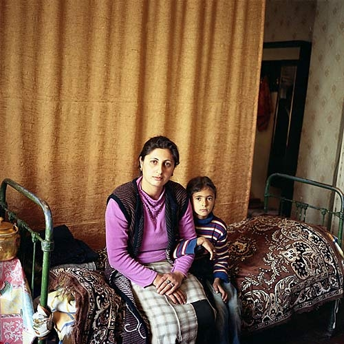 The wife and daughter of an unemployed taxi driver settled in the Soviet-era construction workers' housing complex in 1993.