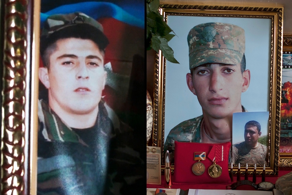 Killed during the April 2016 conflict (left to right): Ulvin Mammadov (20, Azerbaijan); Kyaram Sloian (19, Armenia)