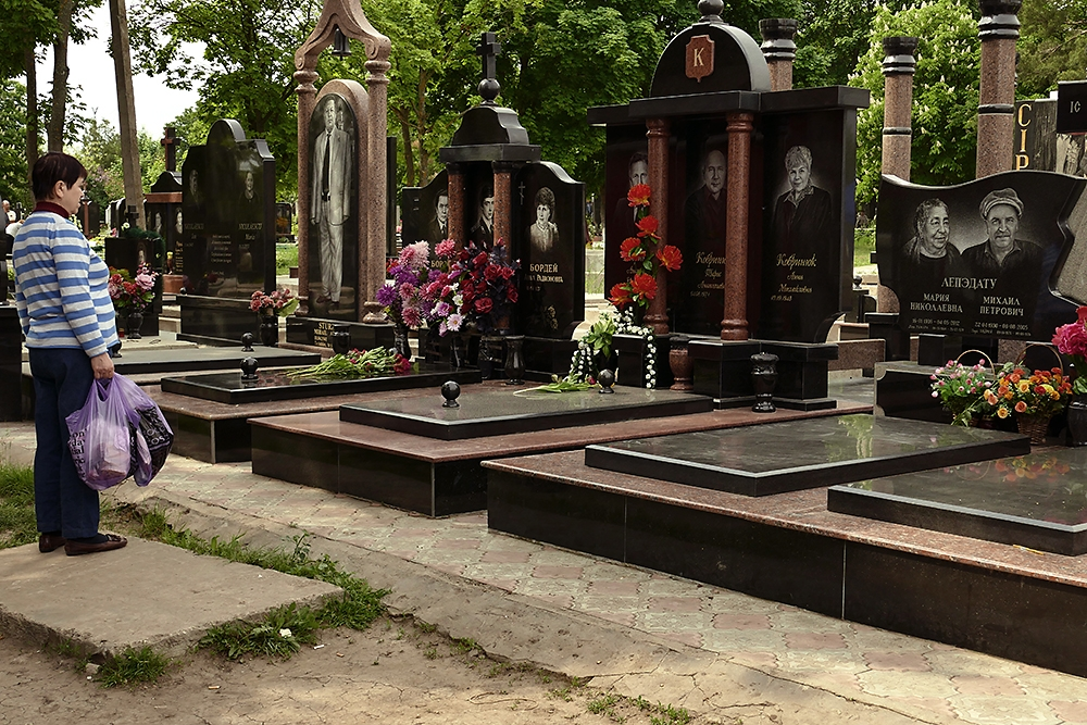 Although Moldova is considered Europe's poorest country, family members often spend lavishly on burial plots and tombs.