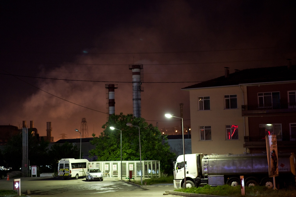 Dilovasi residents claim the factories release most of their pollutant waste in the middle of the night.