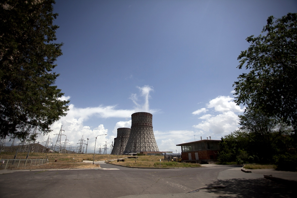 Armenia's 35-year-old nuclear power station, Metsamor, has four cooling towers.