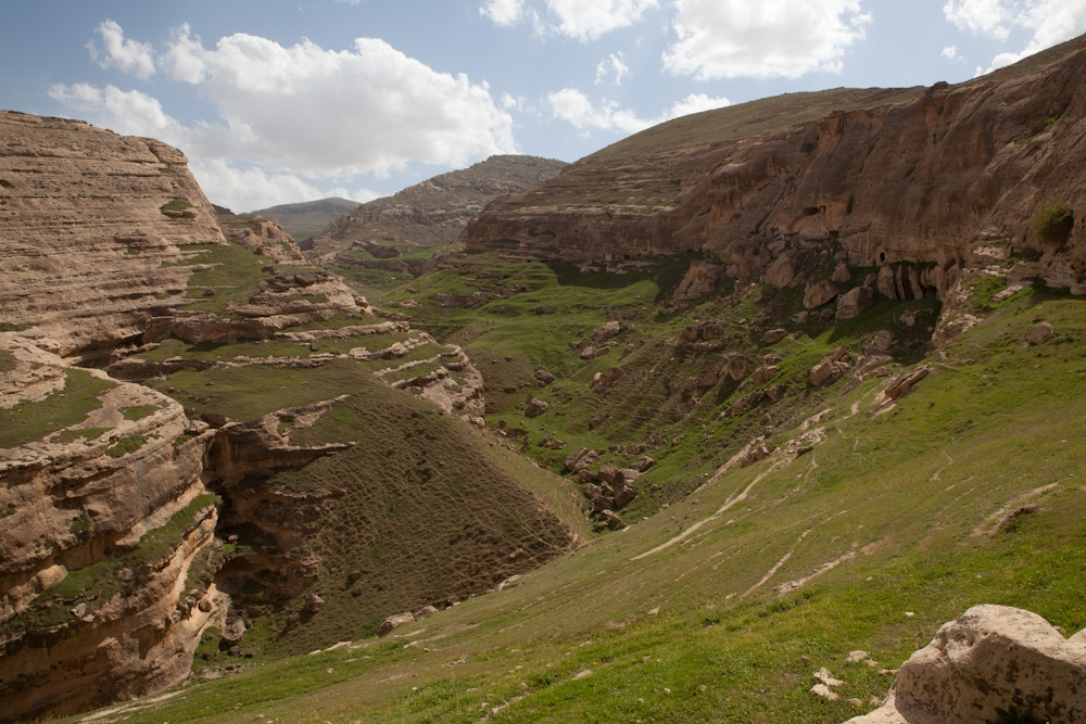 Extensive walks around the hills surrounding Hasankeyf reveal a network of caves and pathways.