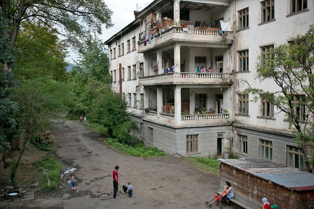 The former Likani sanatorium is now inhabited by Georgian IDPs from the various conflicts in the 1990s.